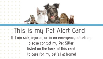 Miami Pet Concierge's Pet Emergency Card Front Side