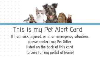 Miami Pet Concierge's Pet Emergency Card Front Side